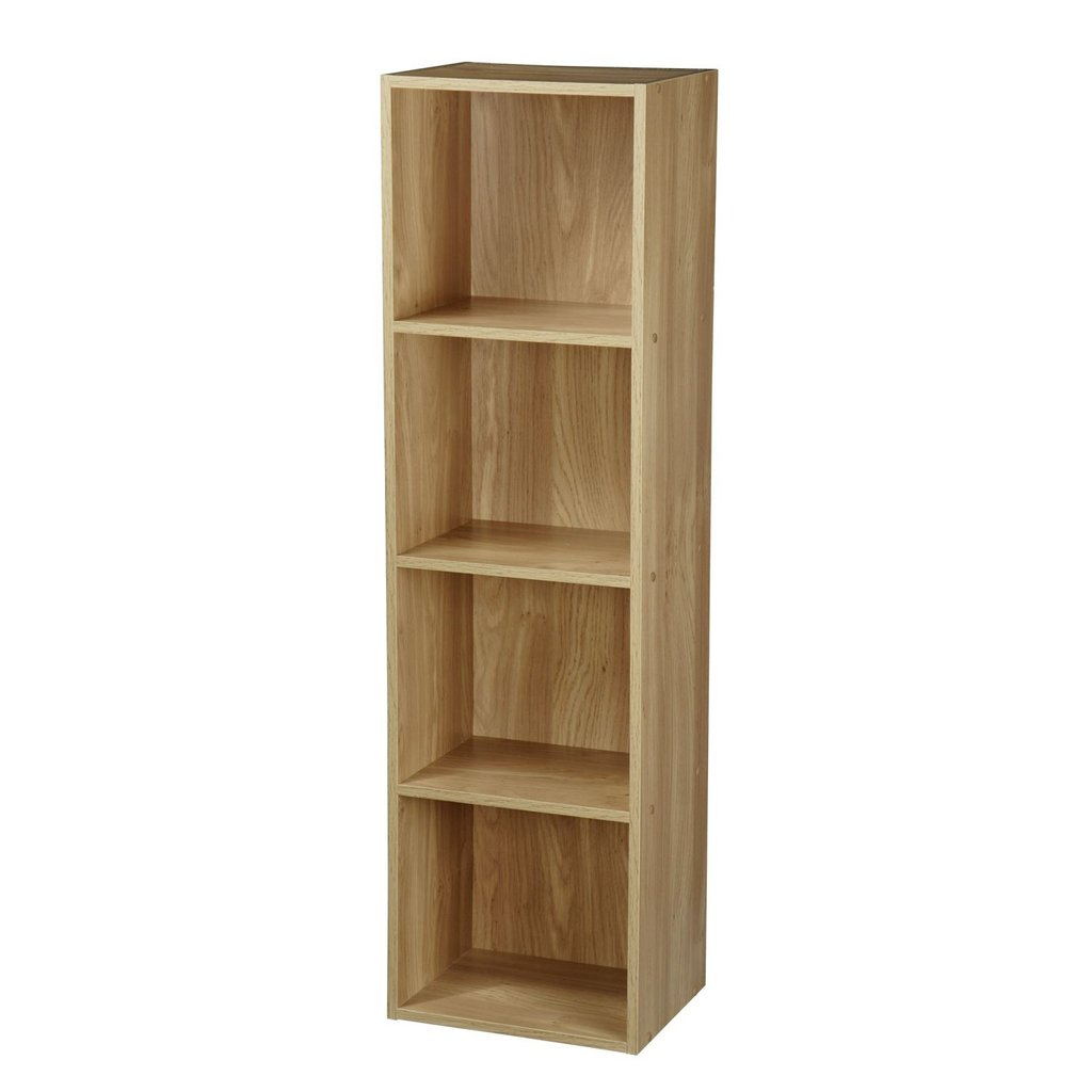 1 2 3 4 Tier Wooden Bookcase Shelving Display Storage Wooden Shelf Brackets Ideas