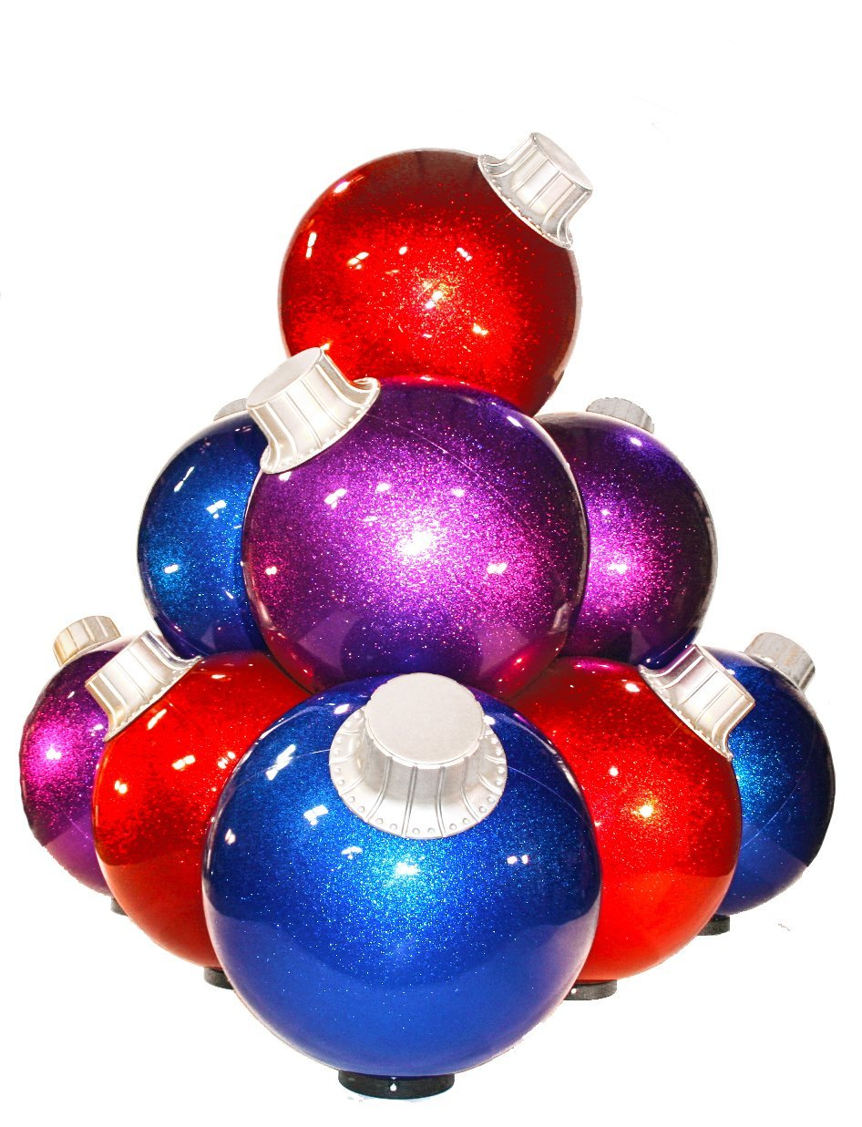 10 Ball Giant Christma Ball Stack Commercial Christma Outdoor Christmas Decorations Ideas