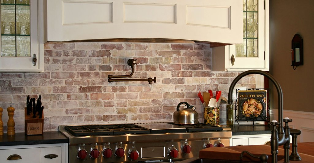 11 Kitchen Backsplash Idea Faux Brick Flooring Finish