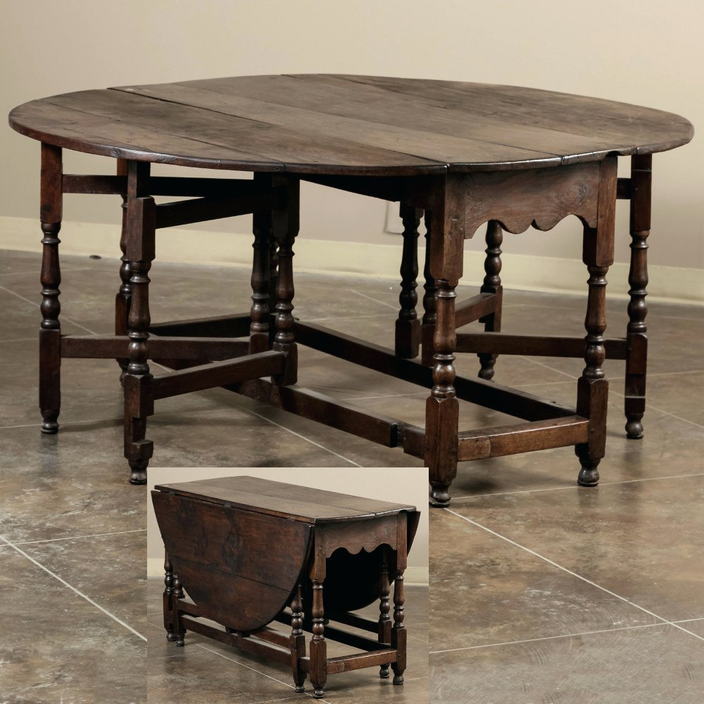 18th Century English Gate Leg Drop Leaf Table Gateleg Table Furniture