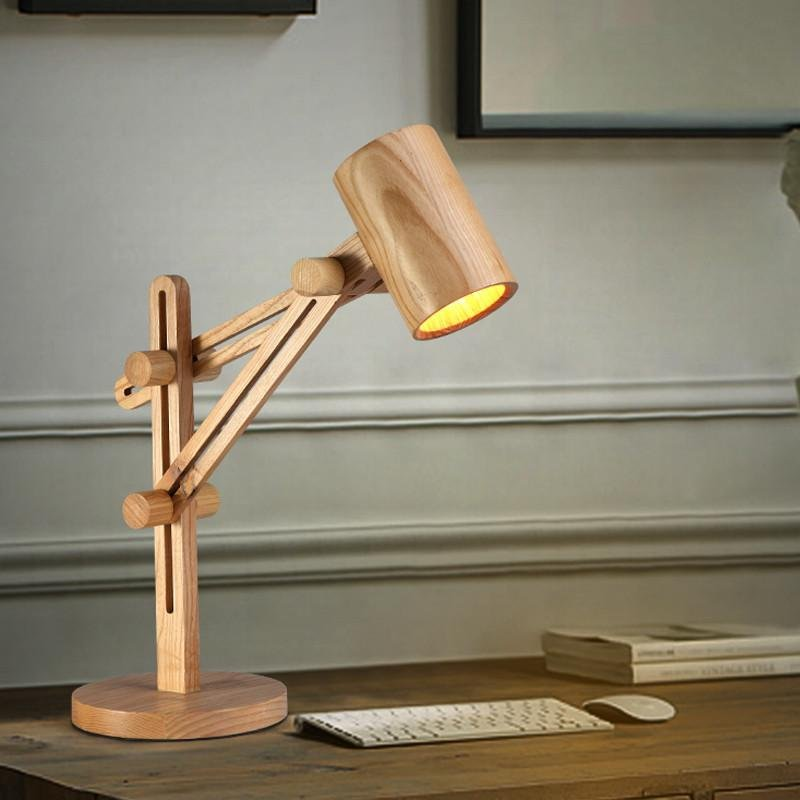 2018 Modern Table Lamp Wooden Desk Lamp Light Table How To Build Round Wood Table Tops