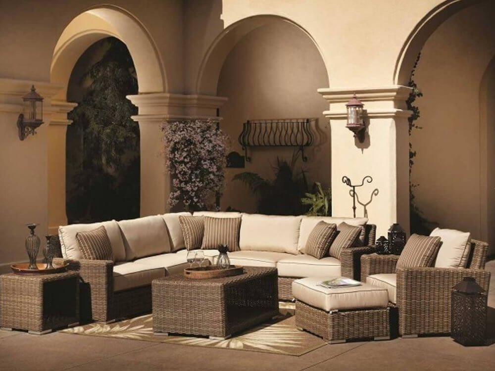 25 Awesome Modern Brown Weather Outdoor Patio Sectional Deep Sectional Sofas Living Room Furniture
