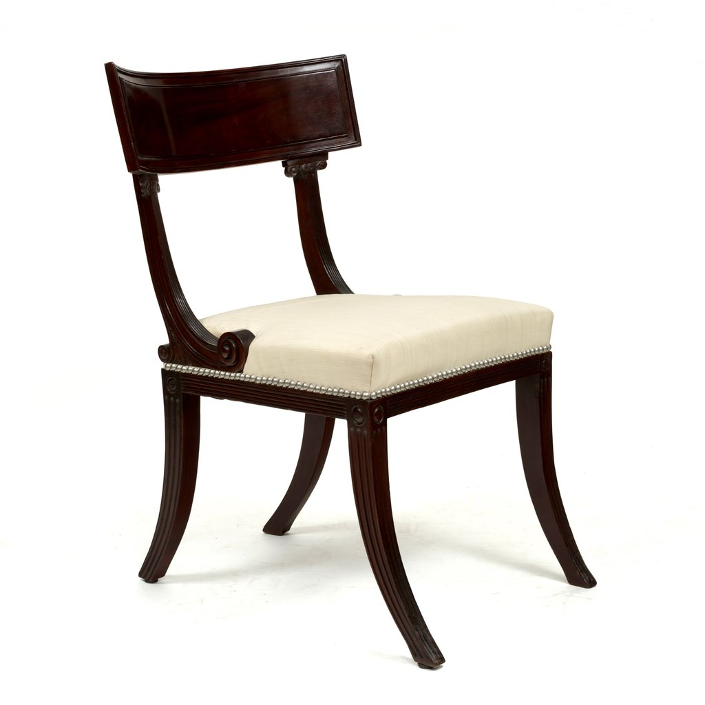 2947 Set 14 Regency Mahogany Klismo Dining Chair How To Repair Rattan Dining Chairs