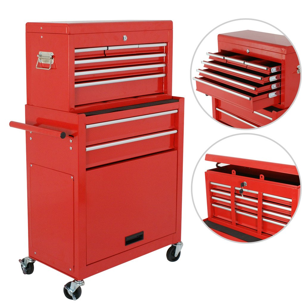 2x Removable Top Chest Box Rolling Tool Storage Cabinet Design Rolling Tool Cabinet