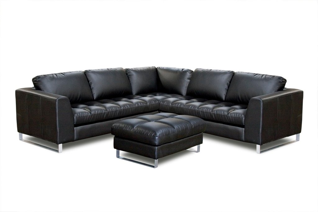 3 Pc Sectional Sofa Classic Shaped Black Leather Decorating Burgundy Leather Sofa