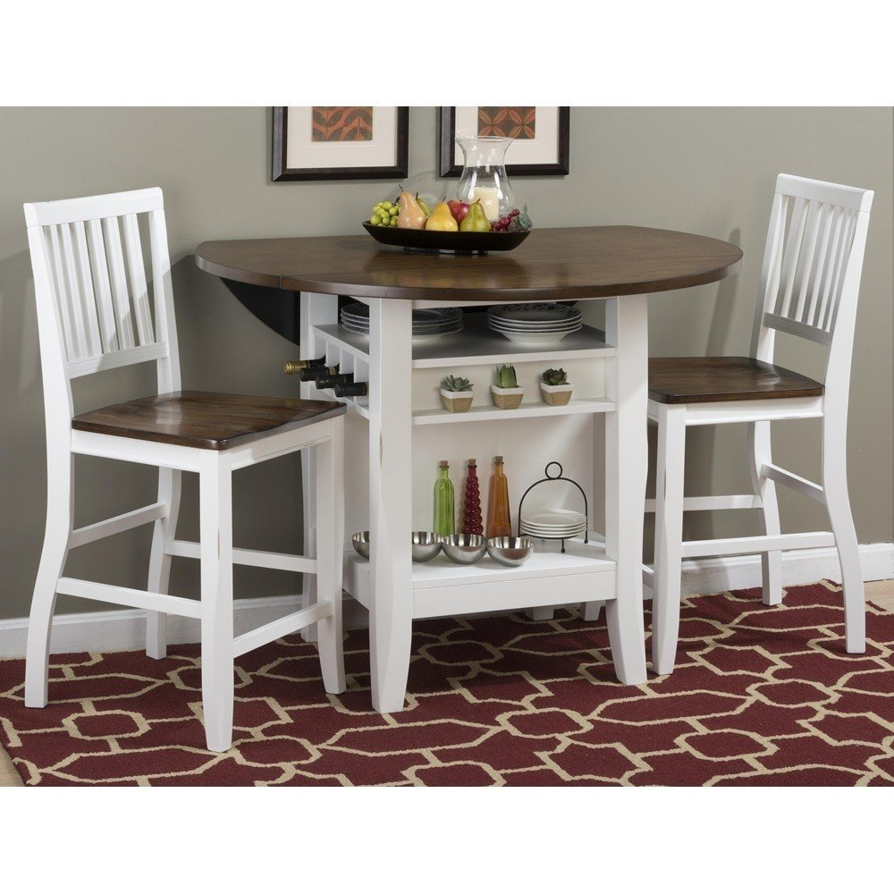 3 Piece Pub Set Storage Kienandsweet Furniture Considering For Square Bistro Table