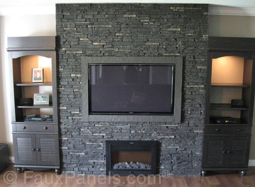 30 Faux Brick Rock Panel Idea Pictures Faux Brick Flooring Finish