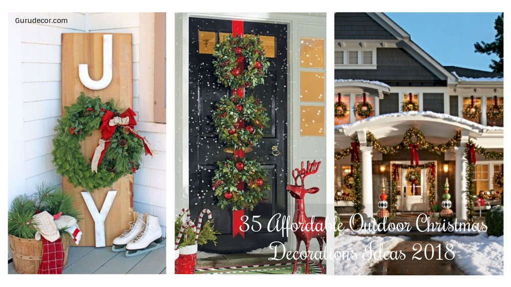 35 Affordable Outdoor Christma Decoration Idea 2018 Outdoor Christmas Decorations Ideas