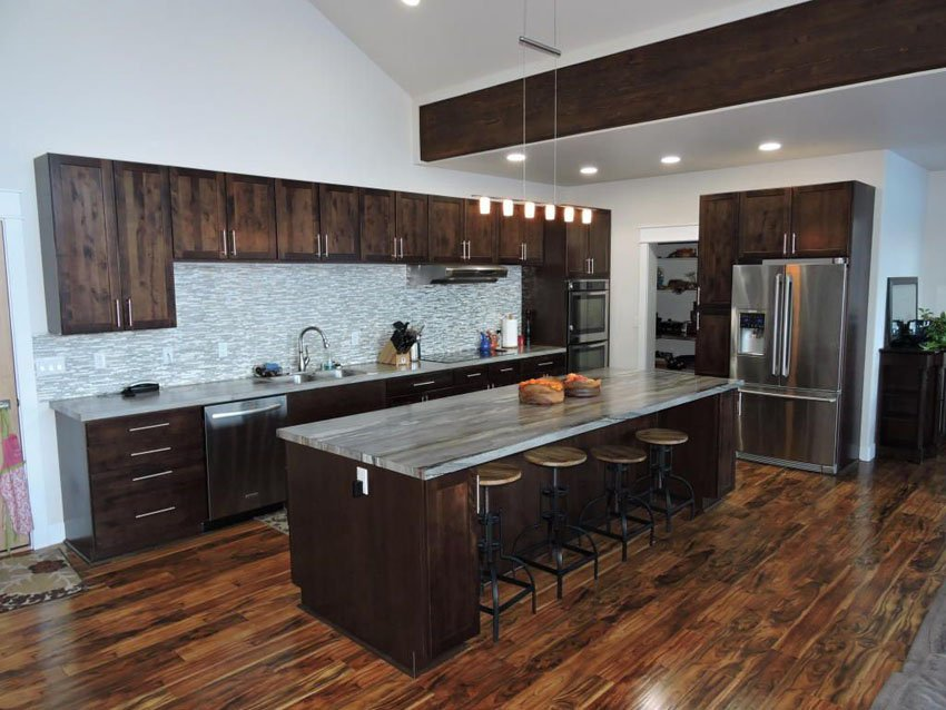35 Luxury Kitchen Dark Cabinet Design Idea Staining Wood Floors With Dark Color