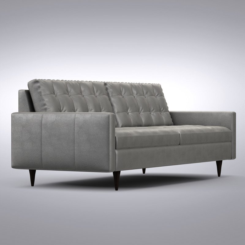 3d Crate Barrel Petrie Model Tuxedo Sofa Crate And Barrel