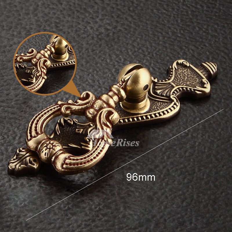 4 6 9 Antique Brass Unique Drawer Pull Bedroom Gold Kitchen Cabinet Hardware Pulls Installation