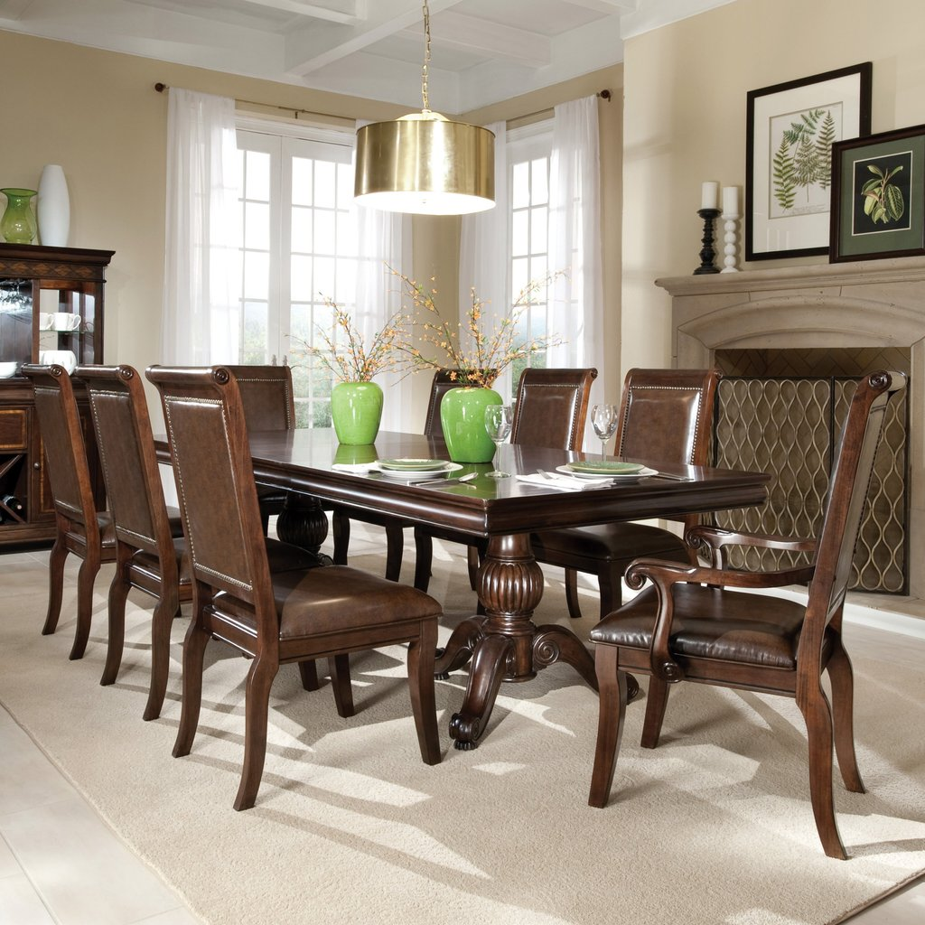 58 Double Pedestal Dining Table Set Stanley Furniture Double Pedestal Dining Table Antique