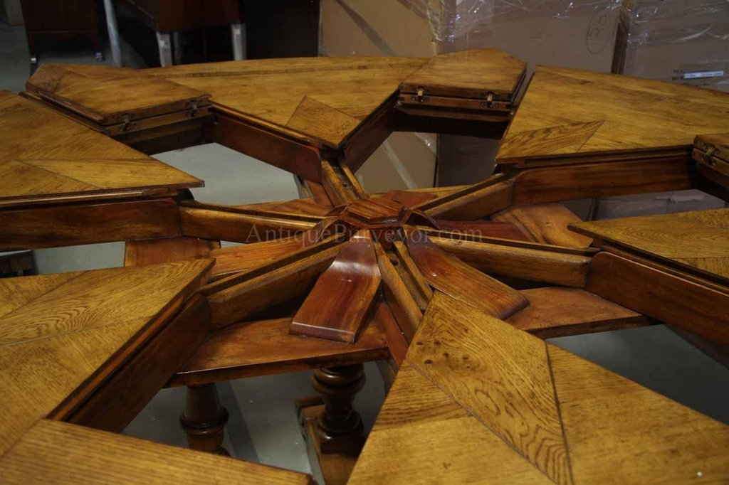 64 84 Solid Oak Dining Room Table Round Dining Table With Leaf Butterfly