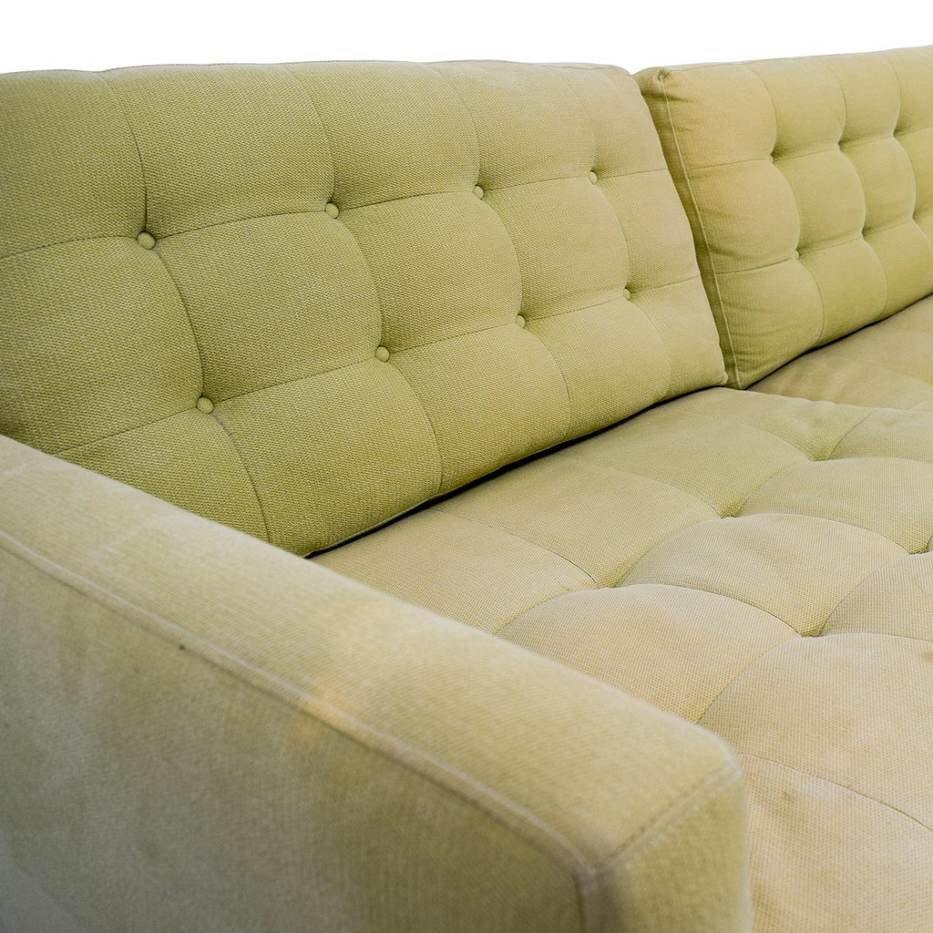 77 Crate Barrel Petrie Pale Green Tuxedo Sofa Crate And Barrel