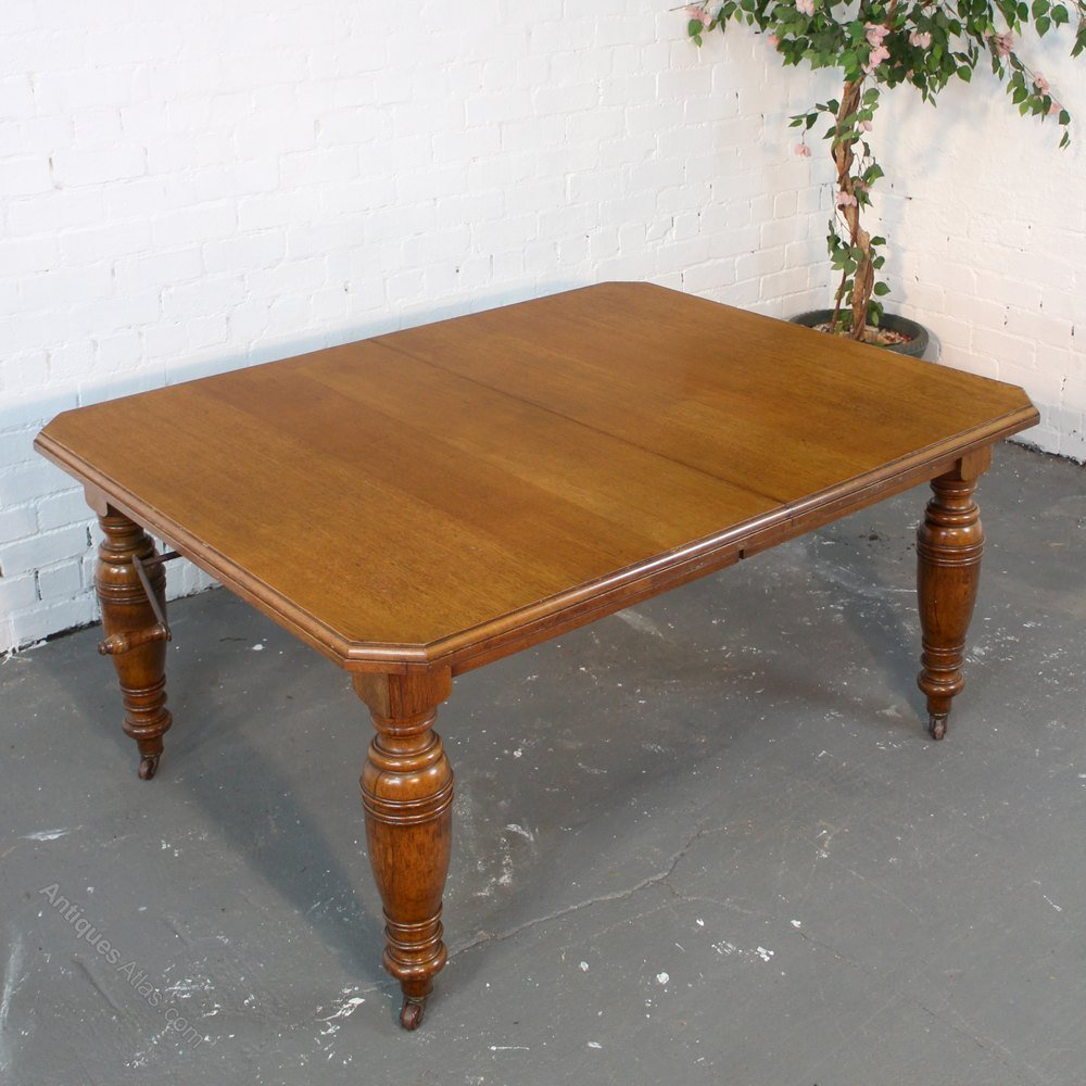 8ft Victorian Oak Extending Dining Table Seat 10 Classic Round
