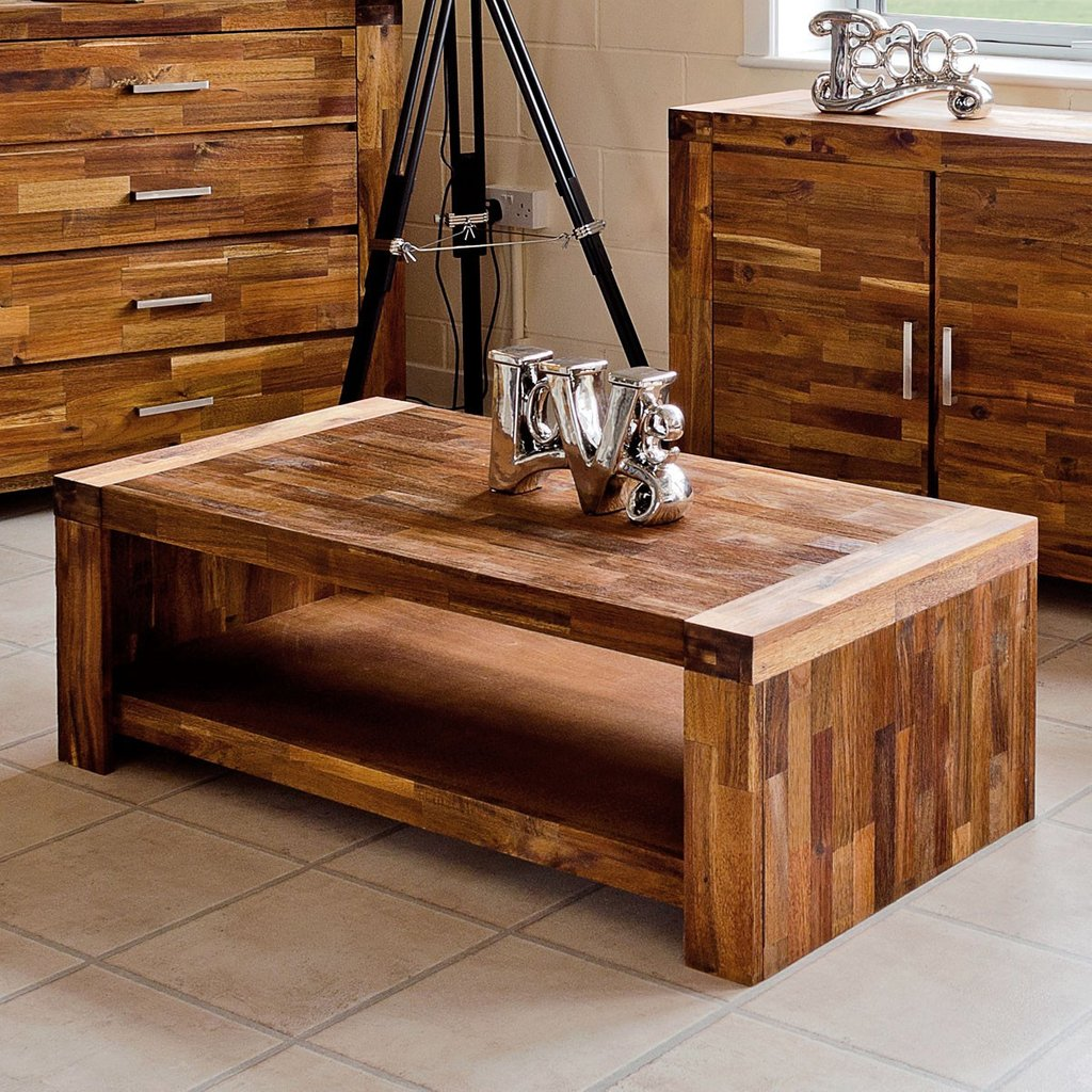 Acacium Wood Coffee Lamp Table Set Fabulous Antique Of Reclaimed Wood Coffee Tables