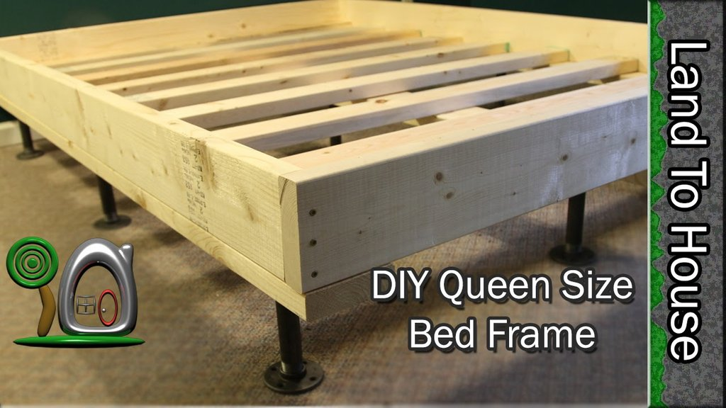 Aid Px Pallet Bed Frame Step Spectacular How To Build A Wood Twin Bed Frame