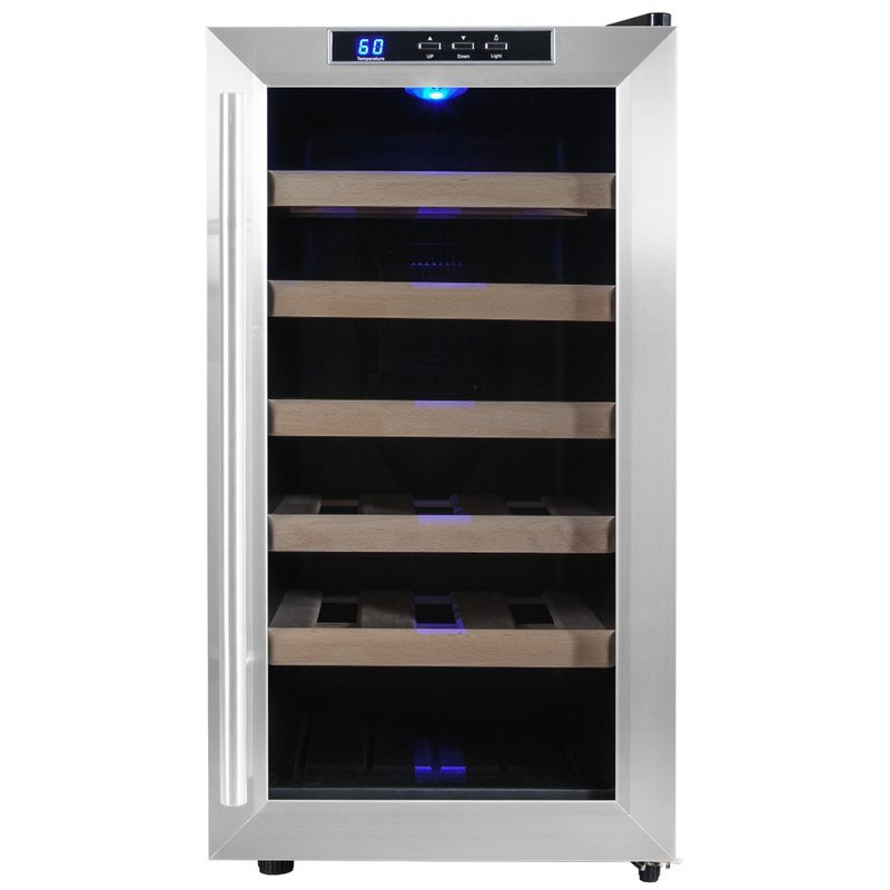 Akdy 18 Bottle Single Zone Freestanding Wine Cooler How To Installing Wine Cooler Cabinet