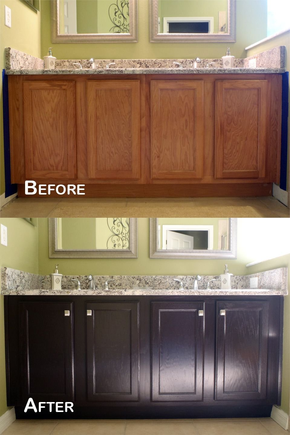 Amazing Transformation General Finish Java Gel Stain Staining Kitchen Cabinets Ideas