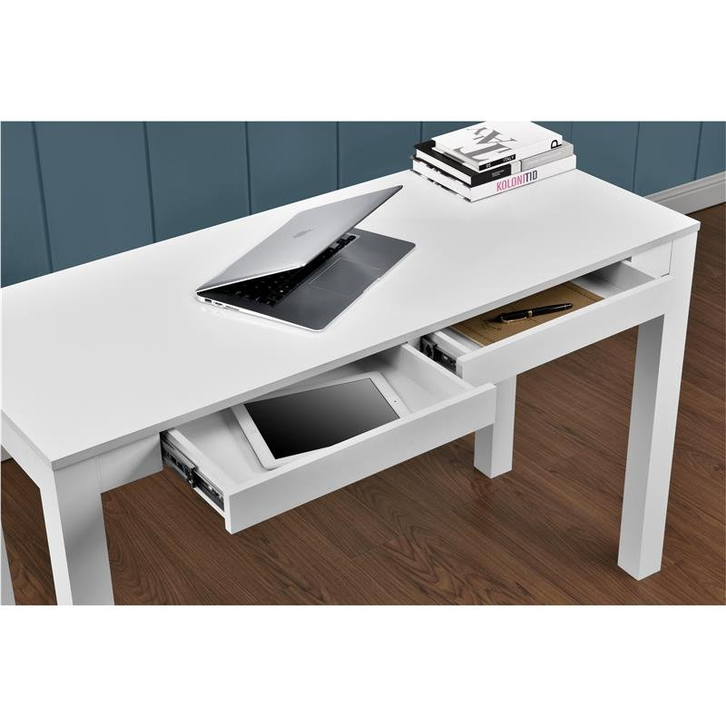 Ameriwood Furniture Large Parson Desk 2 Drawers White What Is A Parsons End Table?