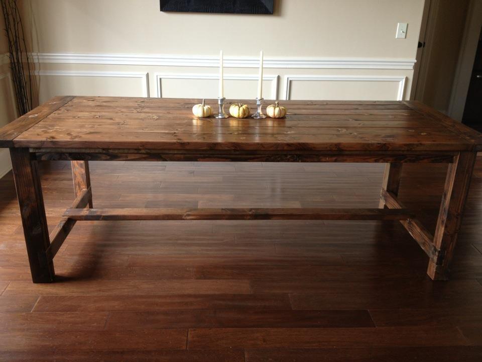 Ana White Farmhouse Diningroom Table Diy Project Making Dining Room Table Centerpieces