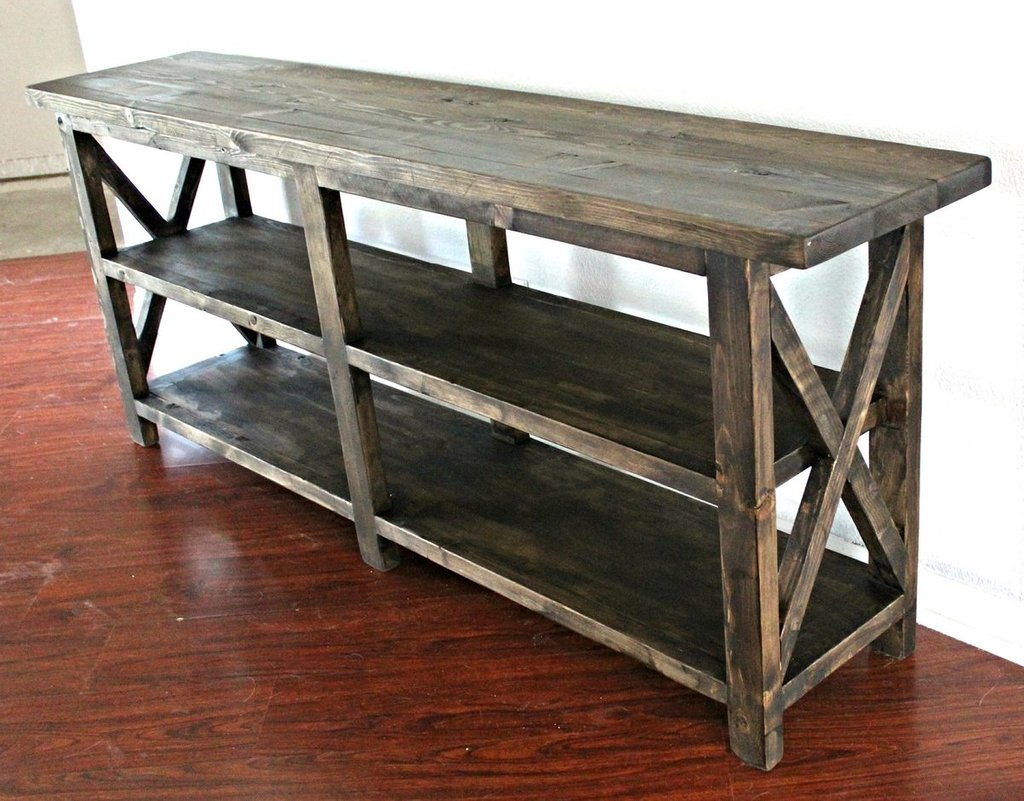 Ana White Rustic Console Table Diy Project How To Design Rustic Console Table