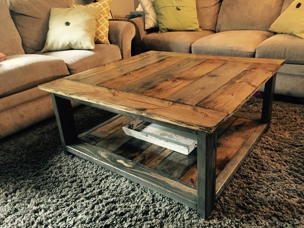 Ana White Rustic Xless Coffee Table Diy Project Restaurant Table Tops Plan