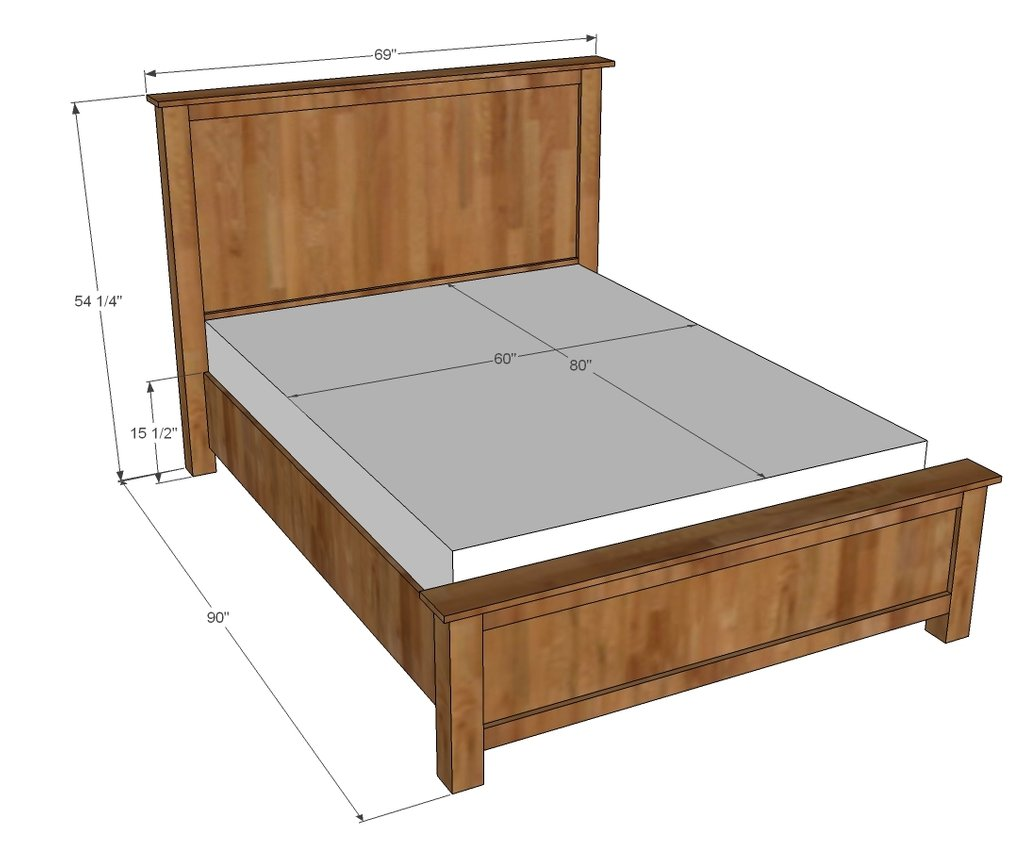Ana White Wood Shim Cassidy Bed Queen Diy Project Making Wooden Queen Bed Frame