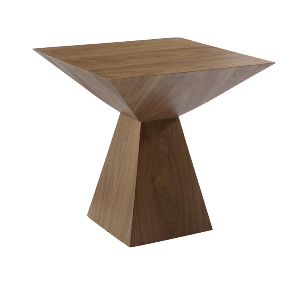 Angle Side Table Walnut Dwell How To Reclaimed Wood Side Table
