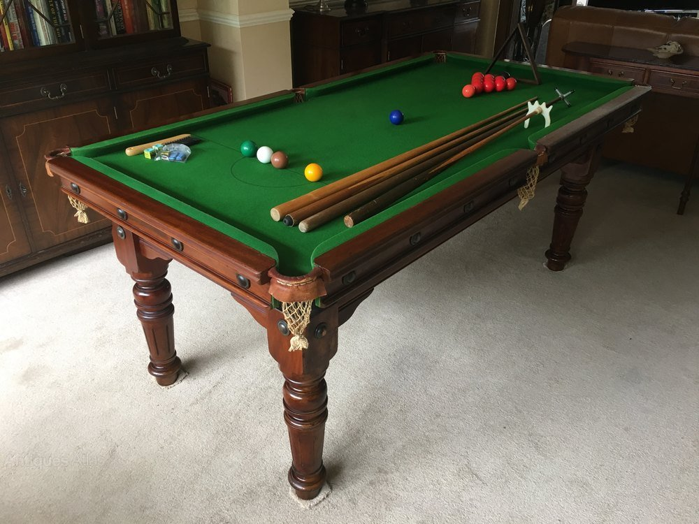 Antique Atla Oak Dining Snooker Pool Table Double Pedestal Dining Table Antique