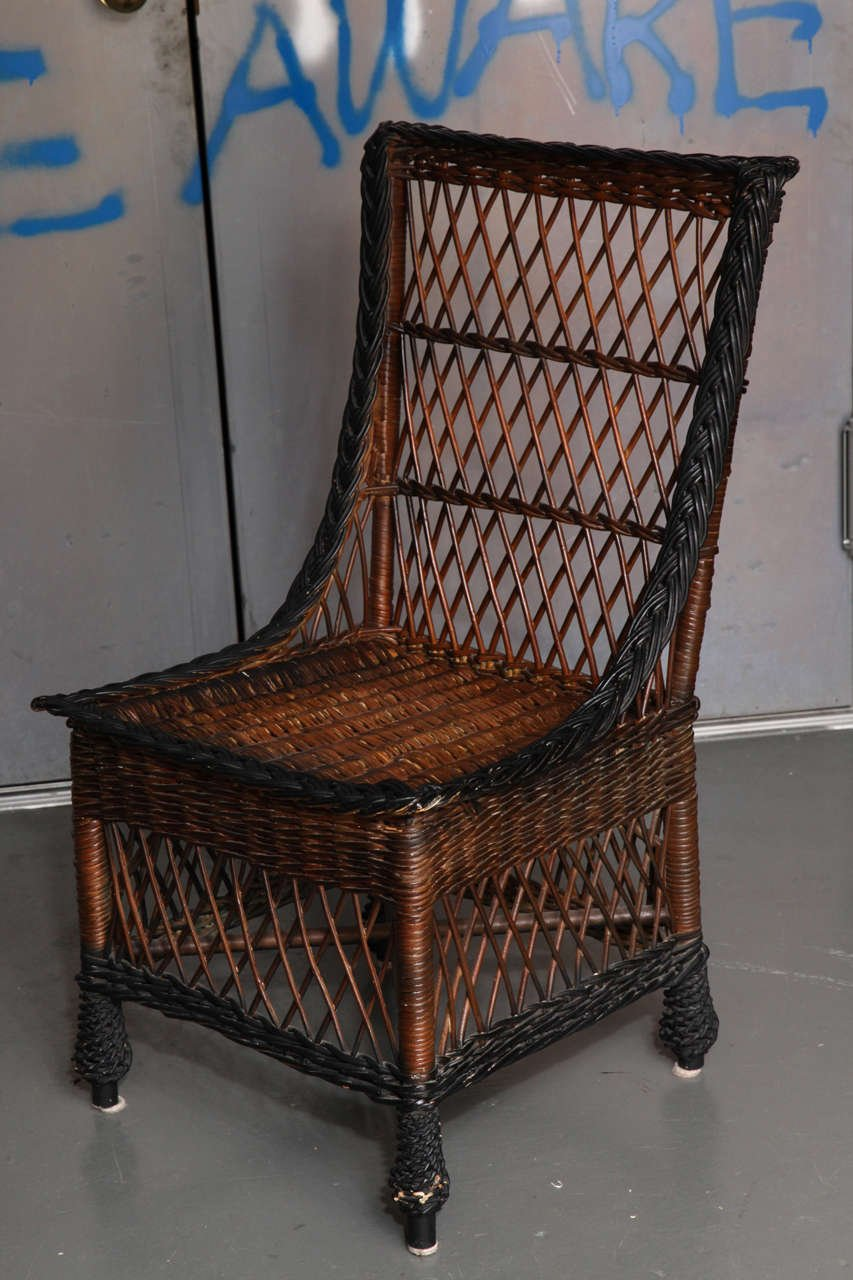 Antique Bar Harbor Wicker Dining Table Set Chair The Set Of Saarinen Tulip Table