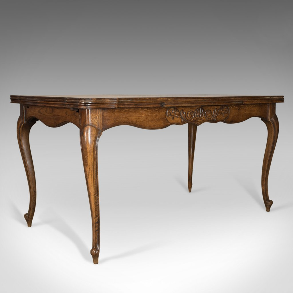 Antique Dining Table Extending Draw Leaf French Parquet Making An Drop Leaf Kitchen Table