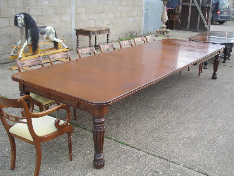 Antique Furniture Warehouse Large Antique Dining Double Pedestal Dining Table Antique