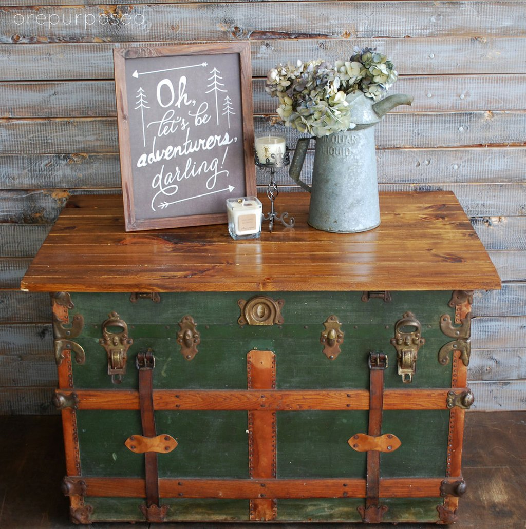 Antique Steamer Trunk Turned Coffee Table Hometalk Make A Tree Trunk Coffee Table