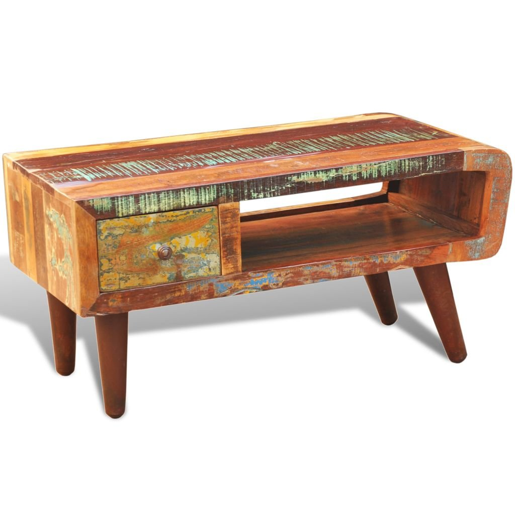 Antique Style Reclaimed Wood Coffee Table Curved Edge Antique Of Reclaimed Wood Coffee Tables
