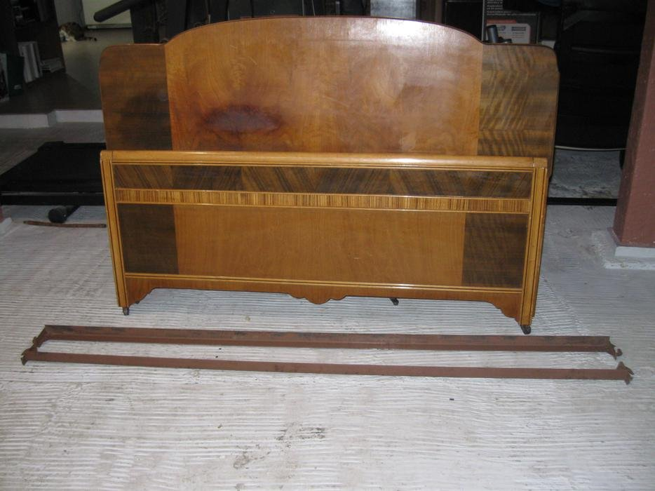 Antique Twin Bed Solid Wood Side Rail Victorium Build Wooden Twin Bed Frame