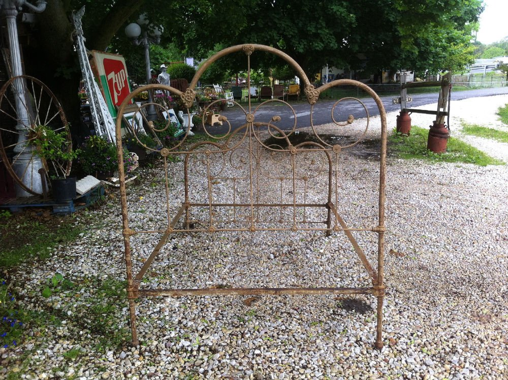 Antique Vintage Iron Bed Full Size Victorian Cast Iron Making An Wrought Iron Headboard