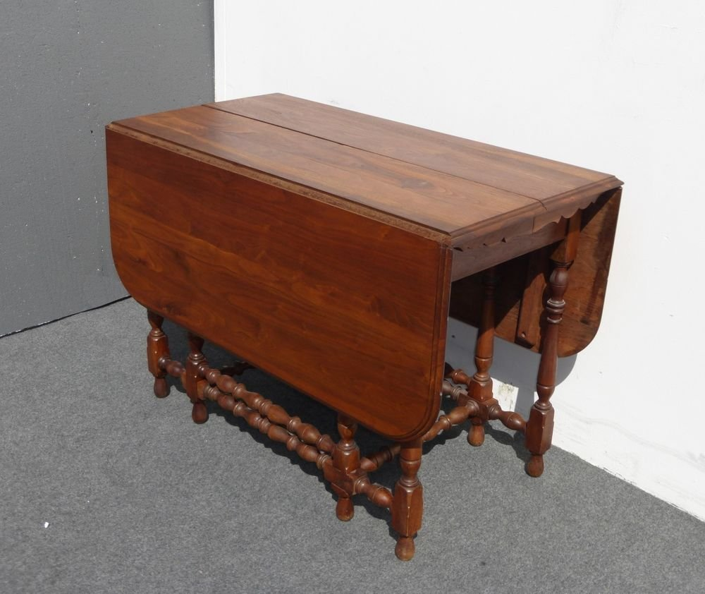 Antique William Mary Style Drop Leaf Walnut Dining Making An Drop Leaf Kitchen Table