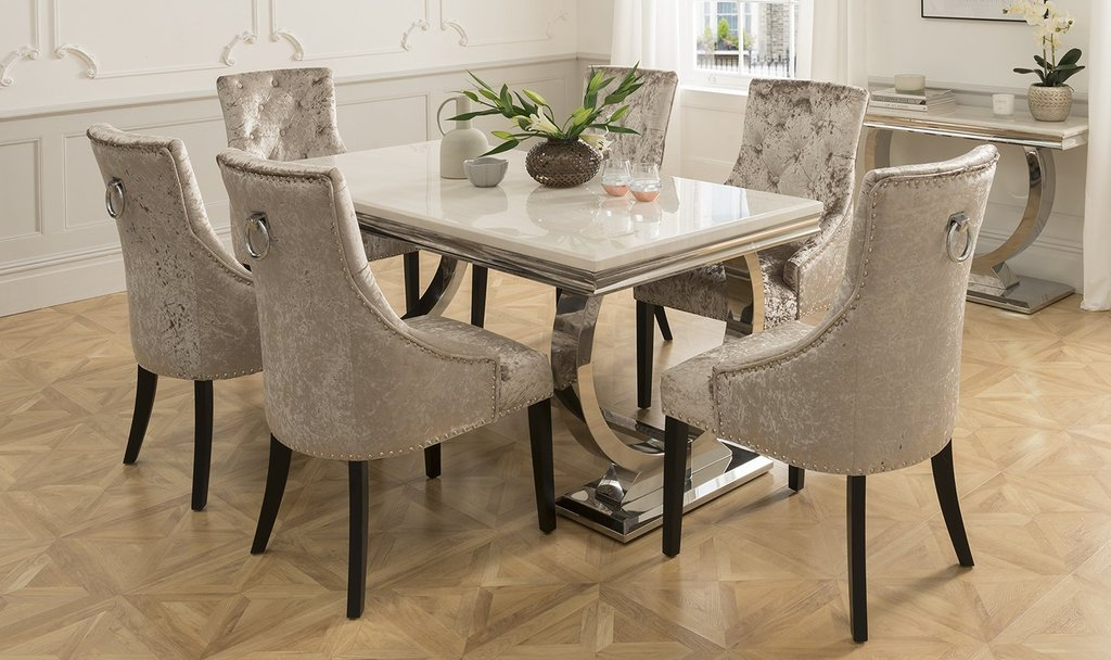 Arianna 180cm Cream Marble Dining Table 4 Ava Crushed The Round Marble Dining Table