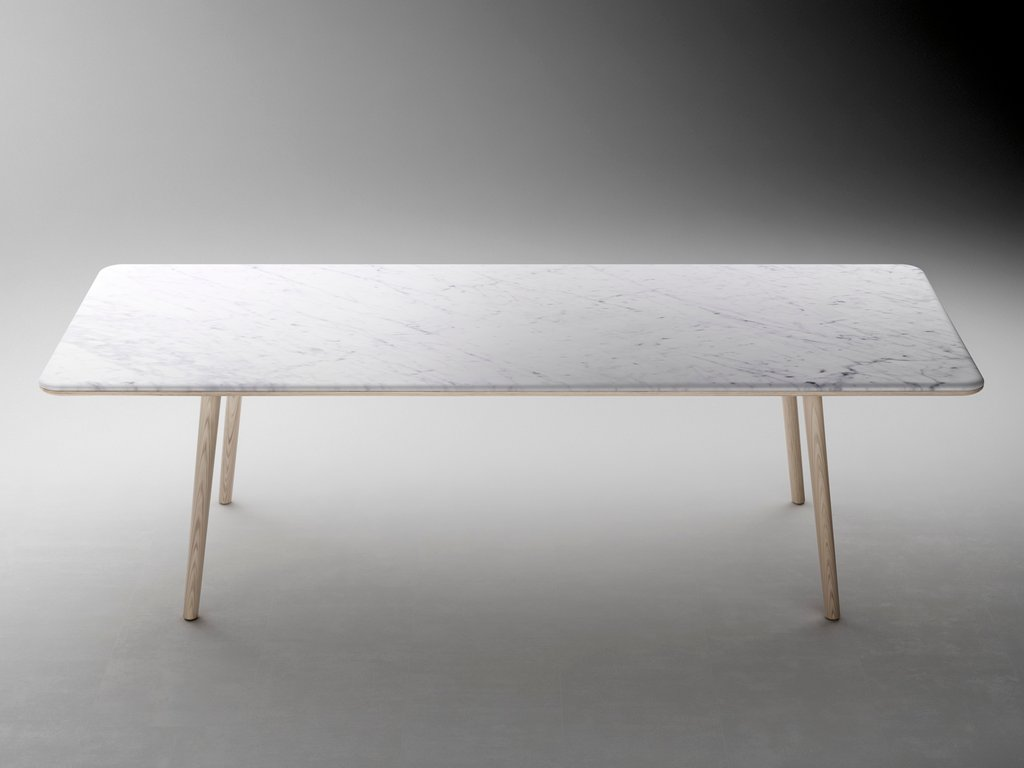 Arin Rectangular Table Retegui Design Jean Loui Iratzoki How To Refinish Marble Table Tops