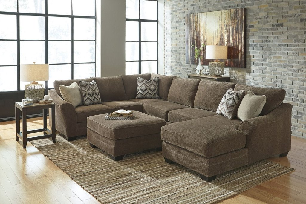 Ashley Justyna Sectional Chaise Home Living Room Measure U Shaped Sectional Sofa