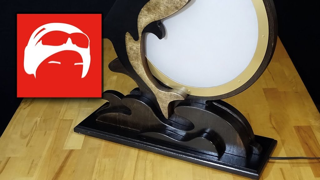 Ausgefallene Delfin Led Tischlampe Au Holz Selber Bauen How To Build Round Wood Table Tops