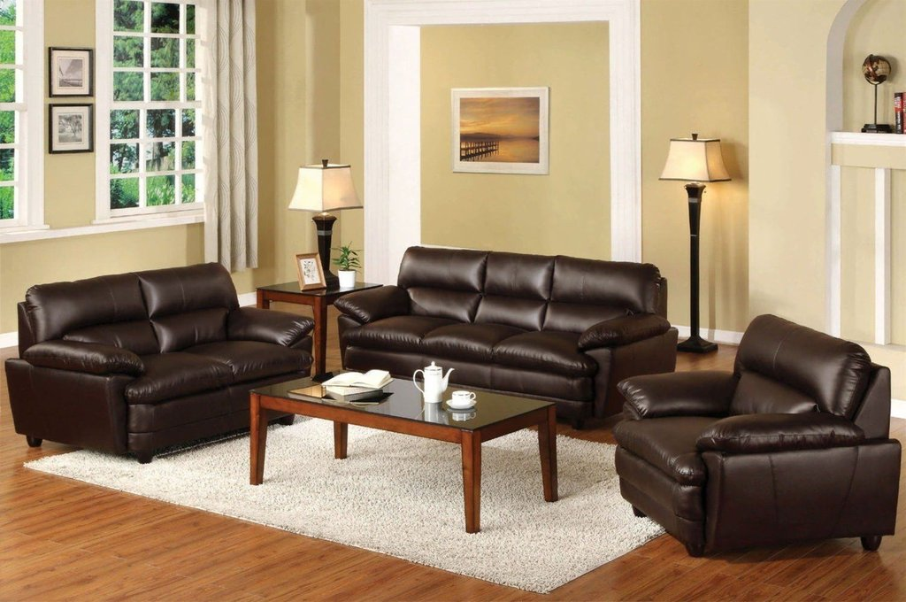 Awesome Brown Sofa Living Room Design Idea Greenviral Decorating Burgundy Leather Sofa