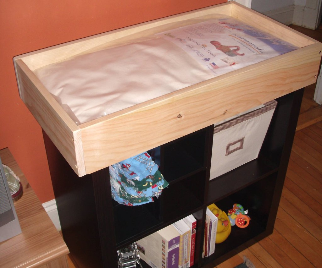 Baby Changing Tray Fit Top Bookshelf 3 How To Make Baby Changing Table Dresser