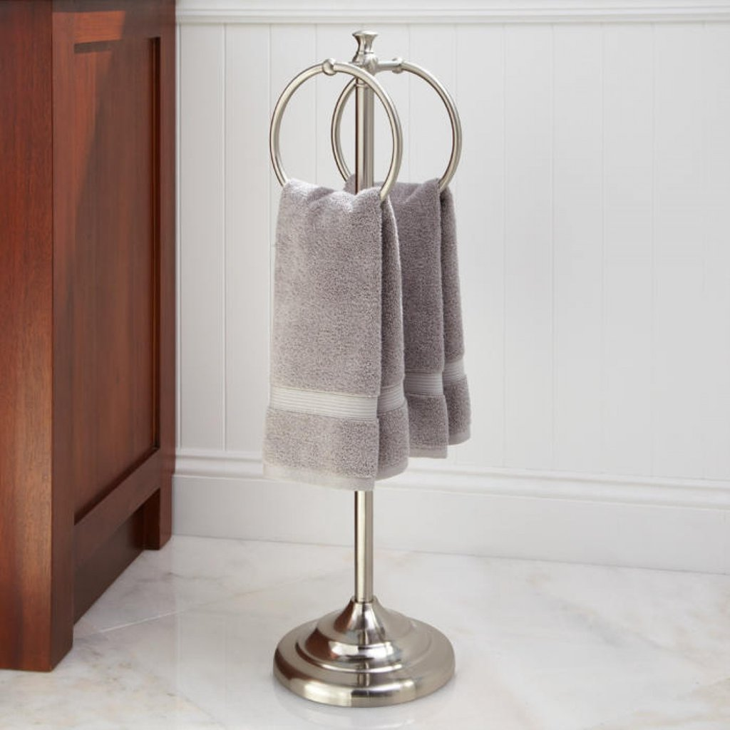 Bathroom Towel Ring Smithfield Standing Towel Ring Mounting A Wooden Towel Rack