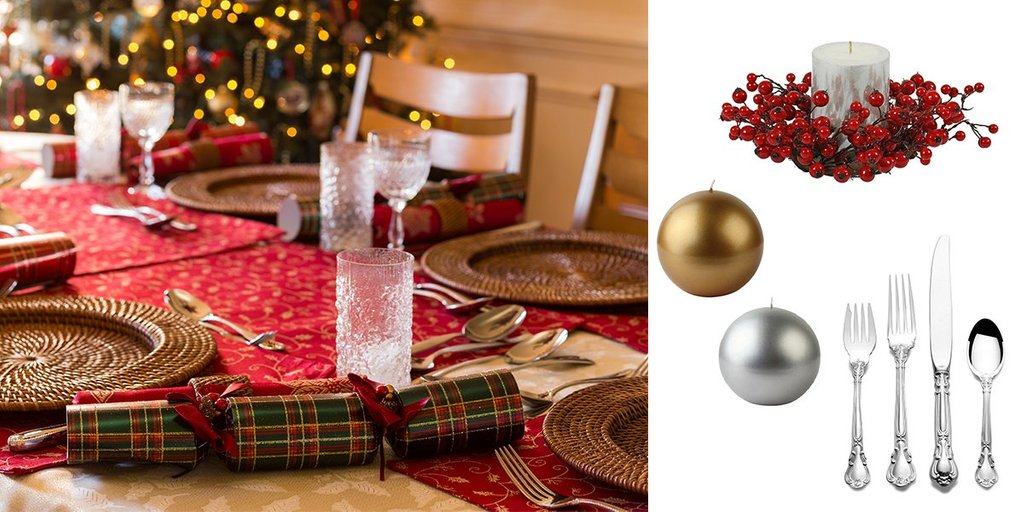Beautiful Traditional Christma Decor Idea Home Dining Room Table Centerpieces Ideas