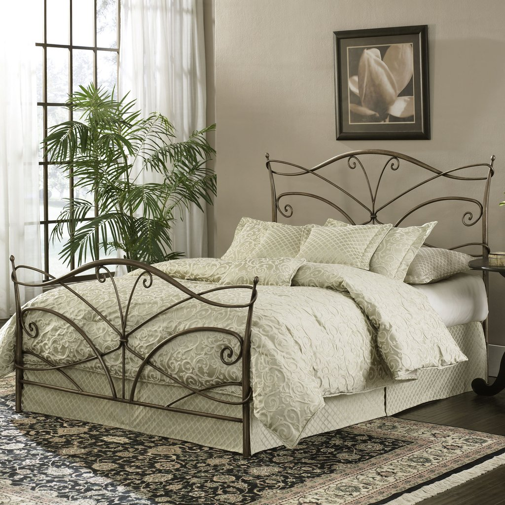 Bed Bath Metal Double Wrought Iron Frame Vintage Making An Wrought Iron Headboard