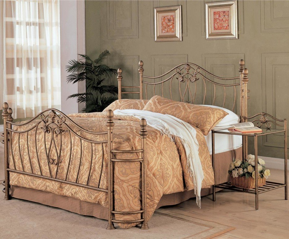 Bedroom Artistic Bedroom Decoration Brown Wrought Making An Wrought Iron Headboard