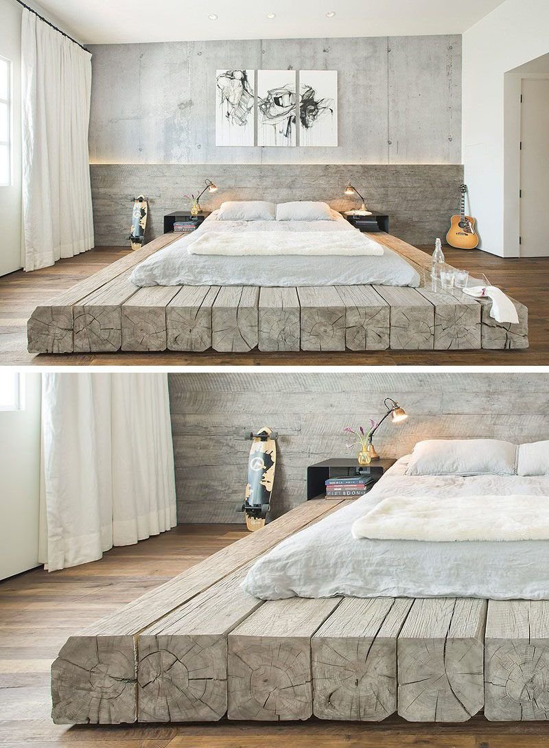 Bedroom Design Idea Place Bed Raised Platform How To Build A Wood Twin Bed Frame