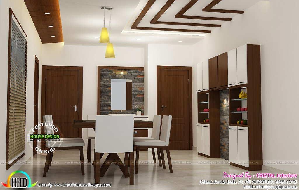 Bedroom Dining Hall Living Interior Kerala Home Color Design For House Interior Dining Room